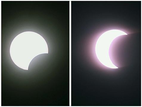 A lua cobre o sol - 15-01-2010 . Efe